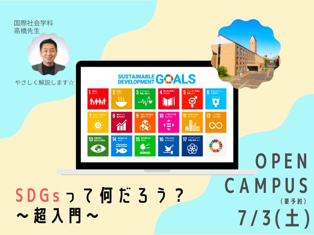 7/3(土)SDGsって何だろう?超入門